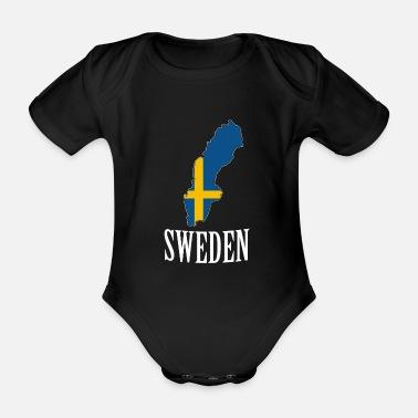 90ioup Sverige Svezia Bandiera Svedese Neonato Manica Corta Neonato Tuta da Bambino Creeper Tuta Pagliaccetto