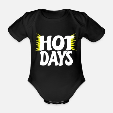 Summer Hot Hot Gift Funny - Organic Short-Sleeved Baby Bodysuit