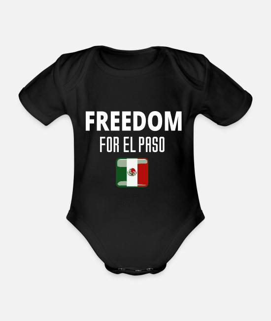Freedom Fighters Baby Clothes - Freedom freedom El paso gift human rights - Organic Short-Sleeved Baby Bodysuit black