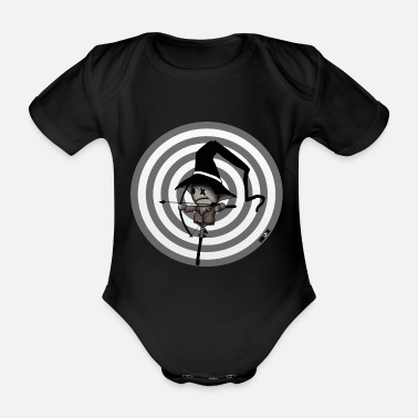 Archers Archery archery funny outdoor cartoon - Organic Short-Sleeved Baby Bodysuit