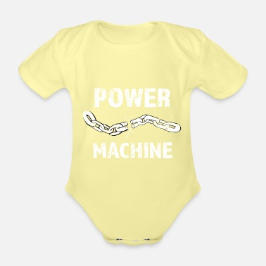 Mann Power machine T-Shirt für Fitness Powerlifter Gym - Baby Bio Kurzarmbody