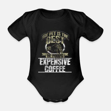 Civet cat Kopi Luwak gift idea - Organic Short-Sleeved Baby Bodysuit