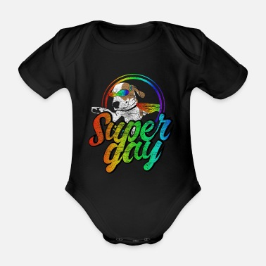 Marriage LGBT Bisexual Rainbow Gift - Organic Short-Sleeved Baby Bodysuit