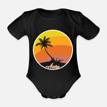 Accra Accra Dream Holiday and Holidays - Organic Short-Sleeved Baby Bodysuit