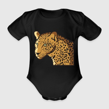 Leopard Wildcat Big Cat in Wildlife Jungle - Baby bio-rompertje met korte mouwen