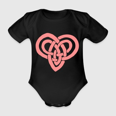 Celtic heart Valentine's Day Eternal bondage - Organic Short-sleeved Baby Bodysuit