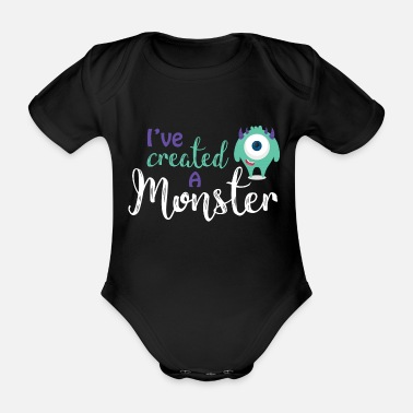 Baby Eltern - Kind - Partnerlook - Monster Eltern - Baby Bio Kurzarmbody