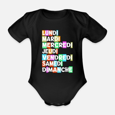 Day Of The Week The days of the week - Organic Short-Sleeved Baby Bodysuit
