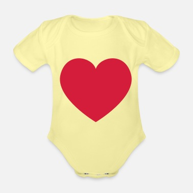 Heart Heart Heart - Organic Short-Sleeved Baby Bodysuit