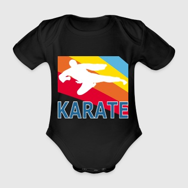 Retron Vintage Style Karate Martial Arts Fighter - Ekologisk kortärmad babybody