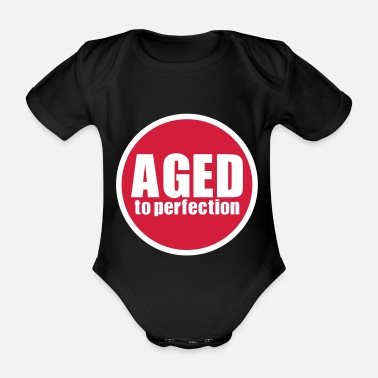 Greypowered.com Aged to perfection - Organic Short-Sleeved Baby Bodysuit