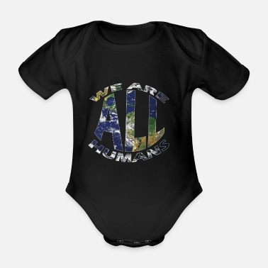 All Humans We are all human - Organic Short-Sleeved Baby Bodysuit
