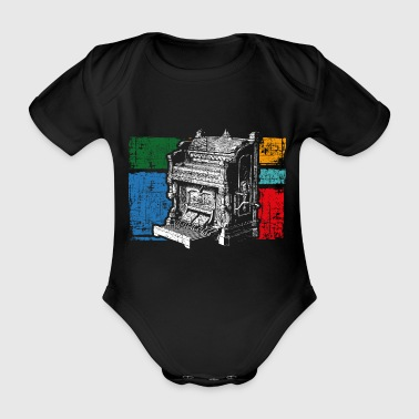 Organ church music - Organic Short-sleeved Baby Bodysuit
