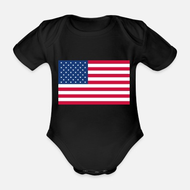 Stars And Stripes Stars and Stripes - Organic Short-Sleeved Baby Bodysuit