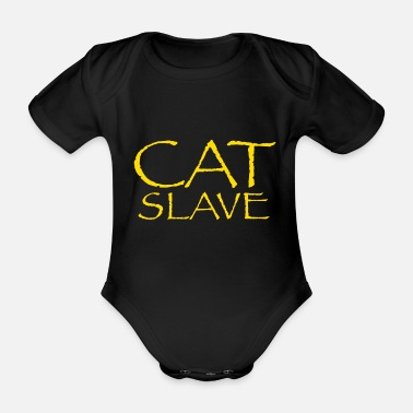 Slave Cat slave - Organic Short-Sleeved Baby Bodysuit