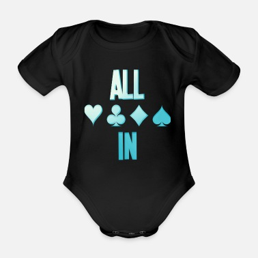 Holdem Poker ALL IN Card Poker Texas Holdem - Baby bio-rompertje met korte mouwen