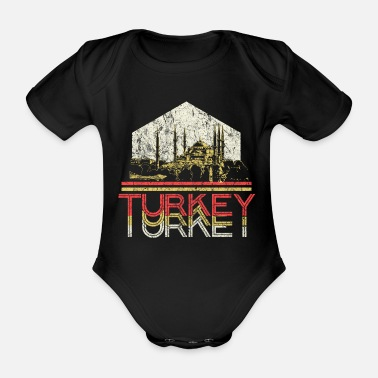 Cult Retro turkey - Organic Short-Sleeved Baby Bodysuit