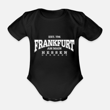 Coronation Frankfurt am Main (white) - Organic Short-Sleeved Baby Bodysuit