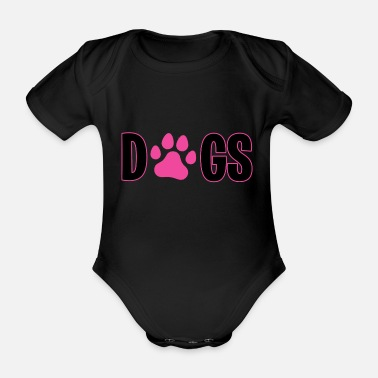 Dogs Dogs Dog dogs dog - Organic Short-Sleeved Baby Bodysuit