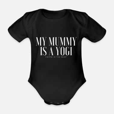 Yogi My Mummy is....white letters - Baby Bio Kurzarmbody