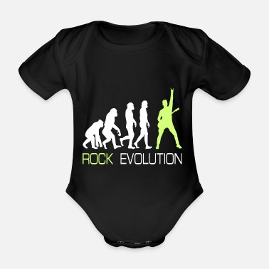 Metal Rock n Roll Heavy Metal Evolution Gift Tee - Økologisk kortermet baby-body
