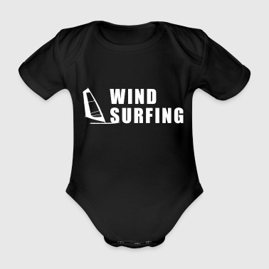 Windsurf windsurfing windsurfer - Organic Short-sleeved Baby Bodysuit