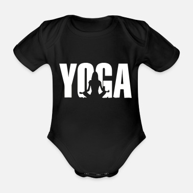Buddhism meditate white - Organic Short-Sleeved Baby Bodysuit