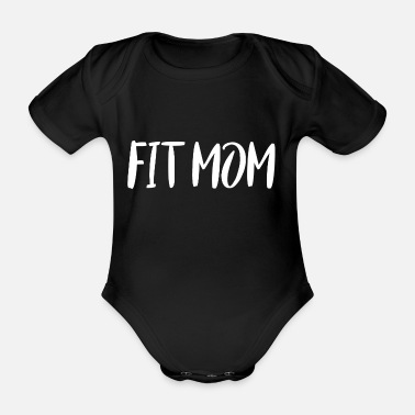 Sporty mother Fit Mom white - Organic Short-Sleeved Baby Bodysuit