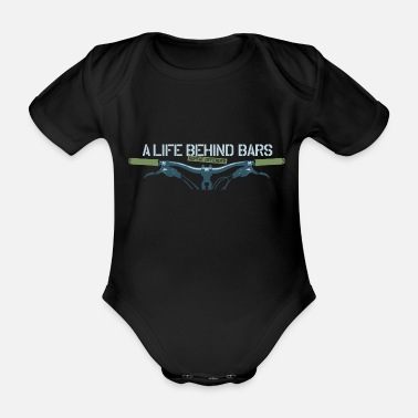 Mountain Mountain Biking - Organic Short-Sleeved Baby Bodysuit