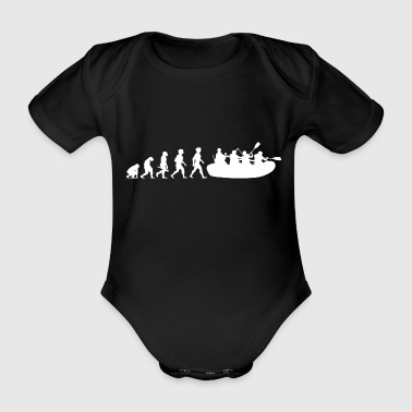 Evolution rafting whitewater water sports - Organic Short-sleeved Baby Bodysuit