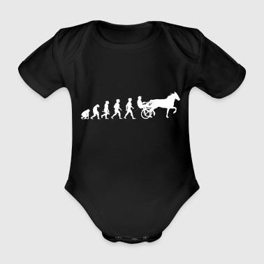 Evolution trot racing horse racing horses - Organic Short-sleeved Baby Bodysuit