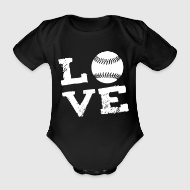 LOVE - Softball - Økologisk kortermet baby-body