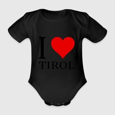 I love Tyrol! - Organic Short-sleeved Baby Bodysuit