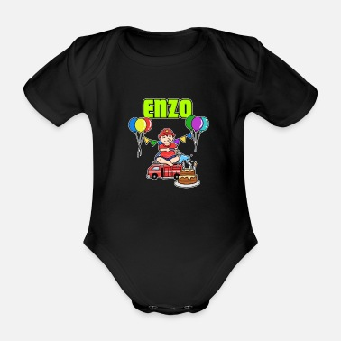 Enzo Fire Department Enzo Gift - Organic Short-sleeved Baby Bodysuit