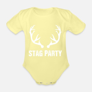 Stag Best Grunge Bachelor's Stag Party T-shirt - Organic Short-Sleeved Baby Bodysuit