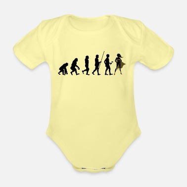Super Evolution to Super Hero T-Shirt Gift Hero - Organic Short-Sleeved Baby Bodysuit