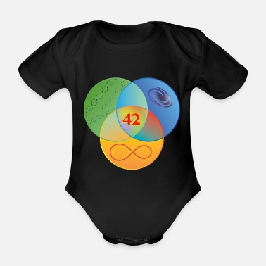 Venn Guide to the Galaxy Colour - Organic Short-sleeved Baby Bodysuit