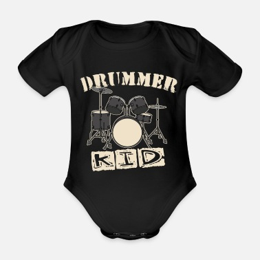 Drummer Drummer Kid - Organic Short-Sleeved Baby Bodysuit