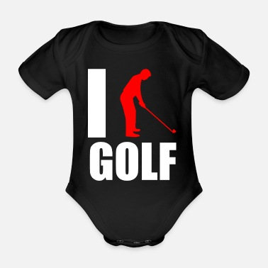 Järn Golf Caddy Putter Love Love Gift - Ekologisk kortärmad babybody