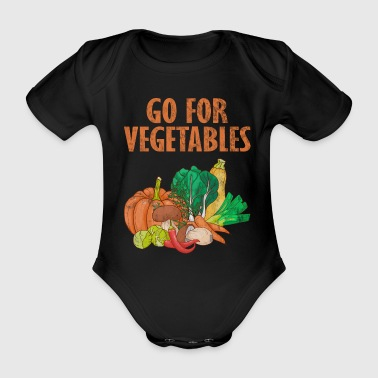Retro Vintage Vegetarian Animal Protection Vegan Veggie - Organic Short-sleeved Baby Bodysuit