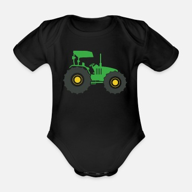 Fan Section Tractor fan - Organic Short-Sleeved Baby Bodysuit