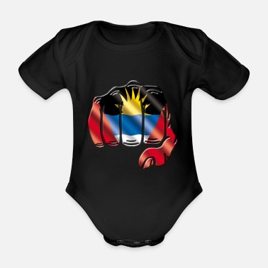 Antigua Antigua Barbuda - Organic Short-Sleeved Baby Bodysuit