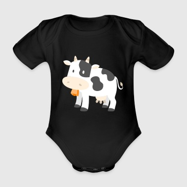 Cow Cows Farmer Farmer Gift Cartoon Comic - Baby bio-rompertje met korte mouwen