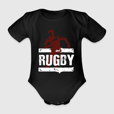 rugby - Organic Short-sleeved Baby Bodysuit