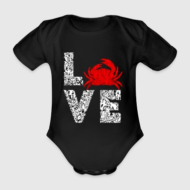 Crabs Love marine animals sea creatures gifts - Organic Short-sleeved Baby Bodysuit