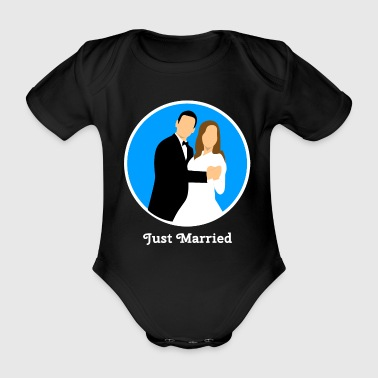 just married love w - Baby Bio-Kurzarm-Body
