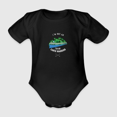Earth Warrior - Organic Short-sleeved Baby Bodysuit