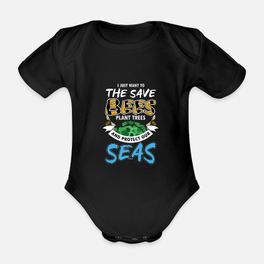 Planet Save The Bees - Organic Short-sleeved Baby Bodysuit