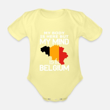 Country belgium country and countries - Organic Short-Sleeved Baby Bodysuit