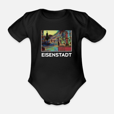 Drøm Eisenstadt city skyline Germany art - Økologisk kortermet baby-body